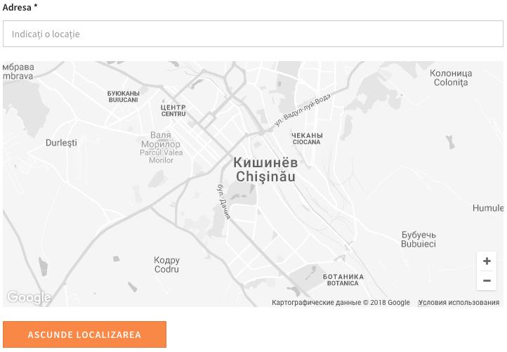 Amplasarea pe harta www.mamont.md