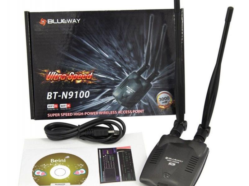 Wifi Adapter USB  2.4GHz Wireless Long Range 3000mW  (adaptor antena Internet)