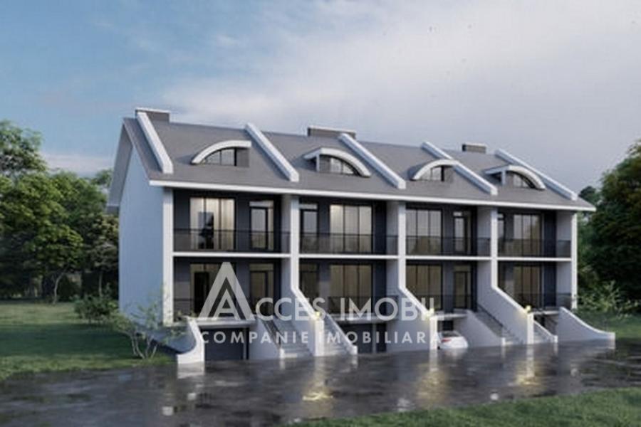 EXCLUSIV - TownHouse în 2 nivele! str. Livezilor, Durlești, 180m2.